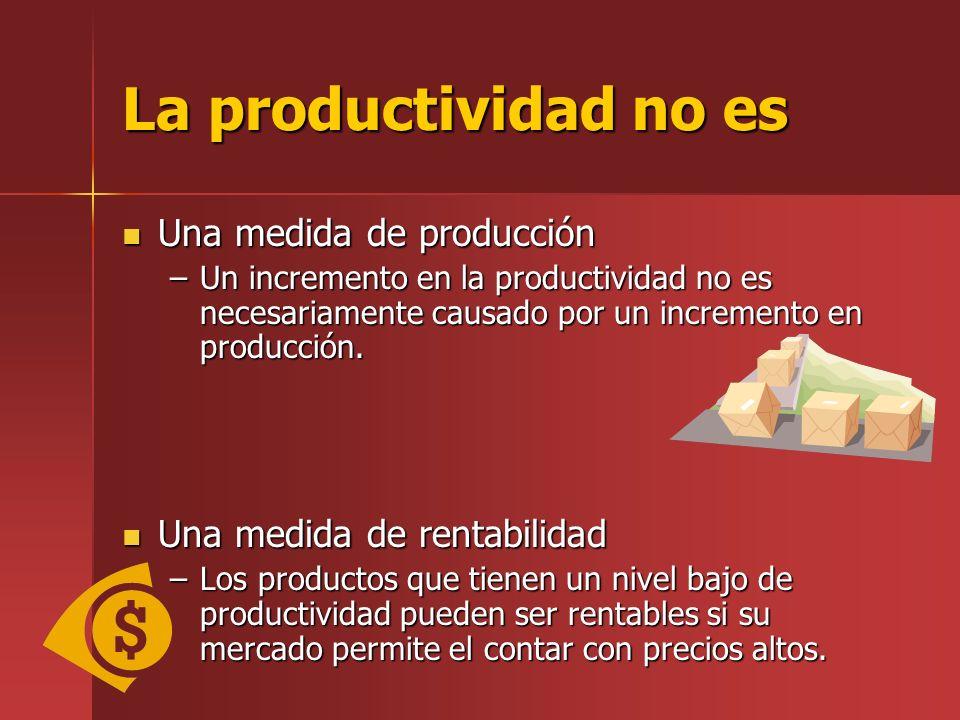La productividad no es Una medida de producción