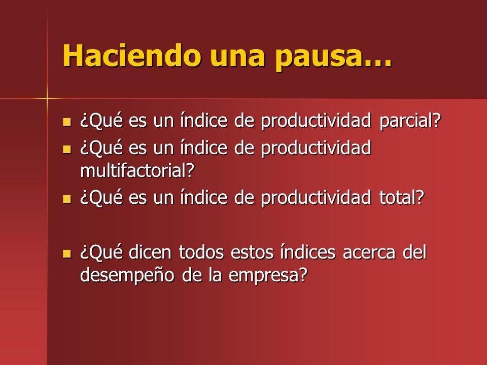 Haciendo una pausa… ¿Qué es un índice de productividad parcial