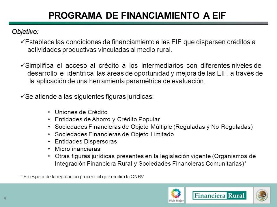 Programa de Financiamiento a EIF