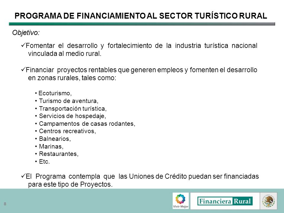 Programa de Financiamiento al Sector Turístico Rural