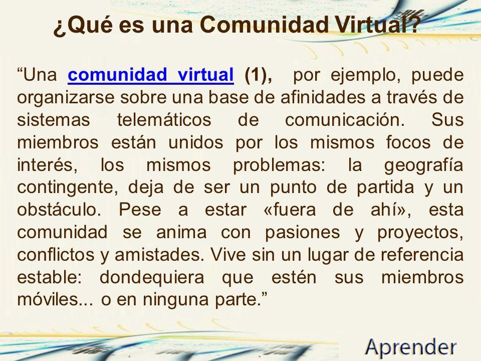 ¿Qué es una Comunidad Virtual