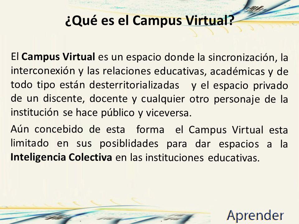 ¿Qué es el Campus Virtual
