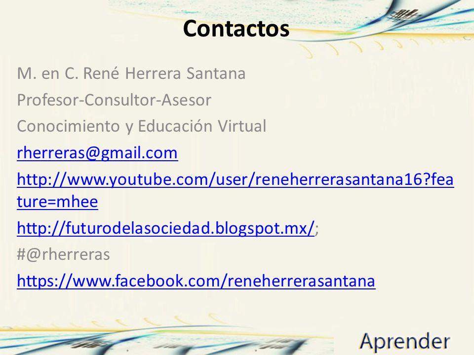 Contactos M. en C. René Herrera Santana Profesor-Consultor-Asesor
