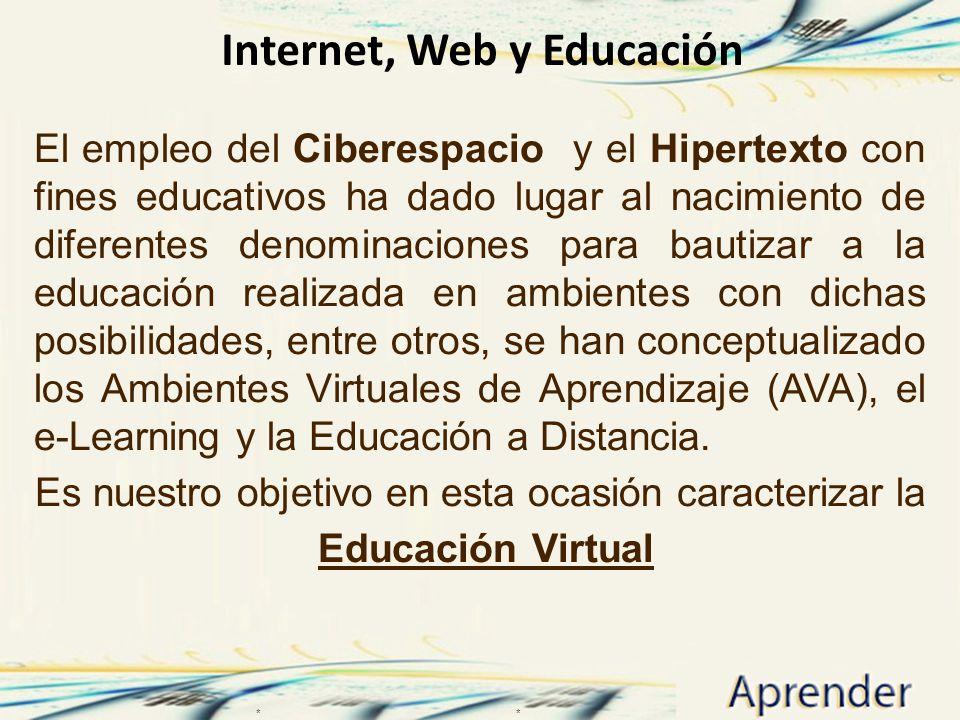 Internet, Web y Educación