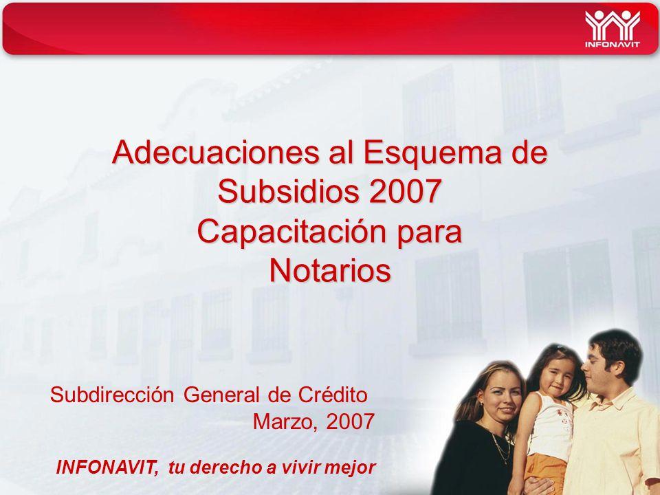Adecuaciones al Esquema de Subsidios 2007 Capacitación para Notarios