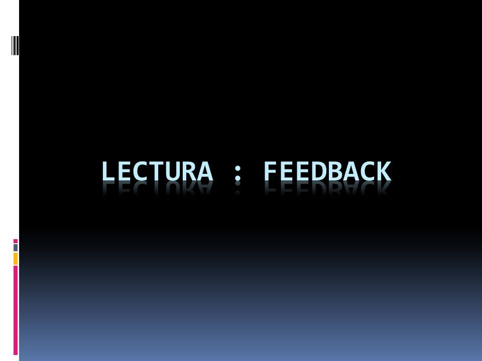 LECTURA : feedback