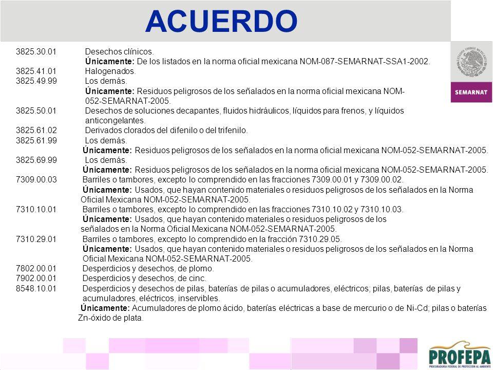 ACUERDO 3825.30.01 Desechos clínicos.