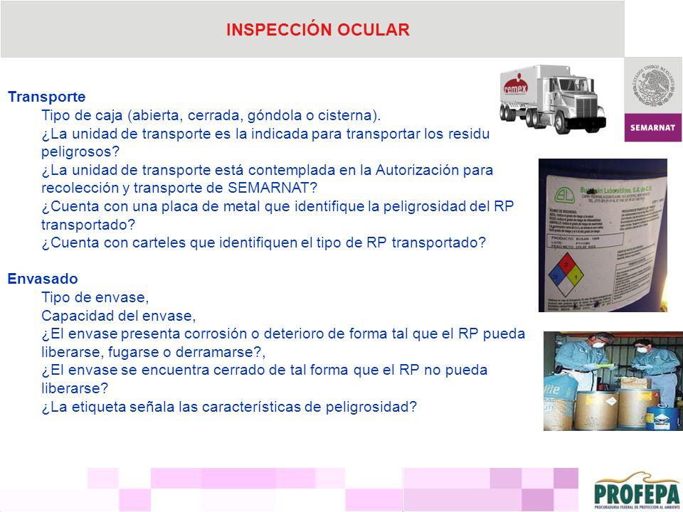 INSPECCIÓN OCULAR Transporte