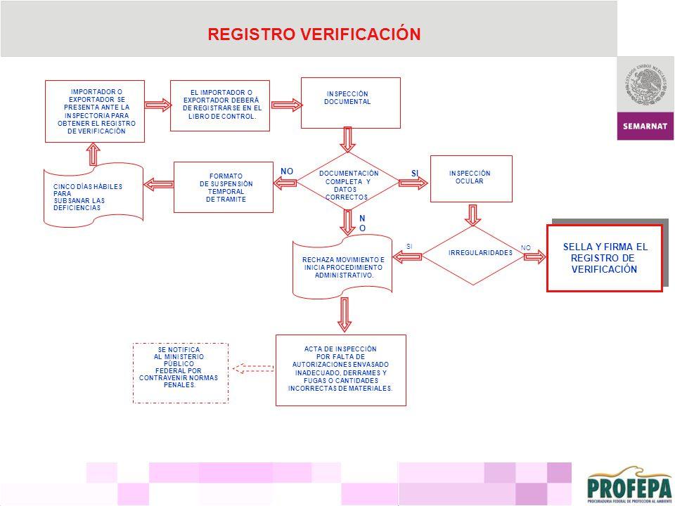 REGISTRO VERIFICACIÓN