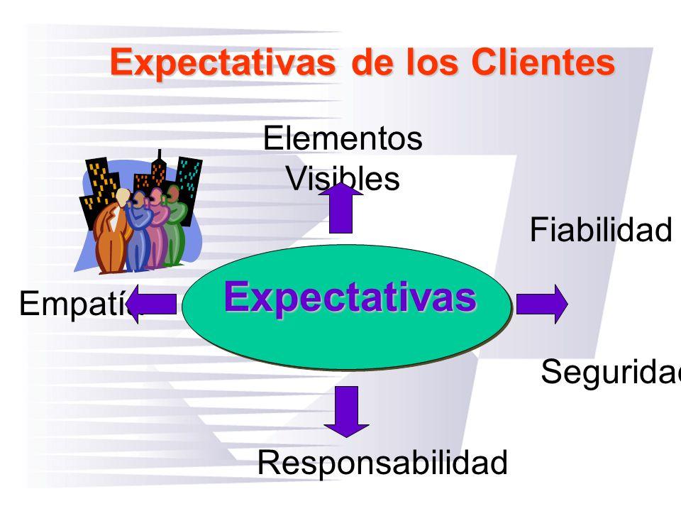 Expectativas Expectativas de los Clientes Elementos Visibles