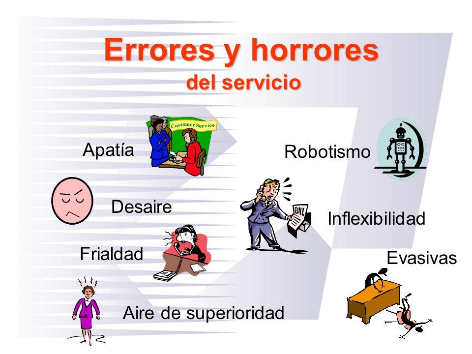 Errores y horrores del servicio Apatía Robotismo Desaire