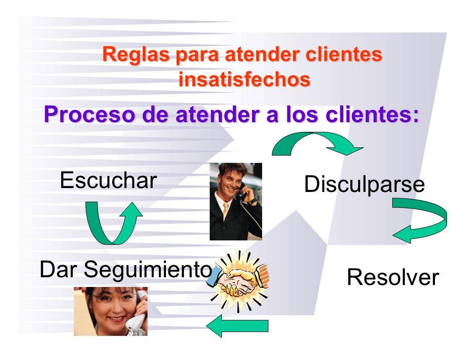 Reglas para atender clientes
