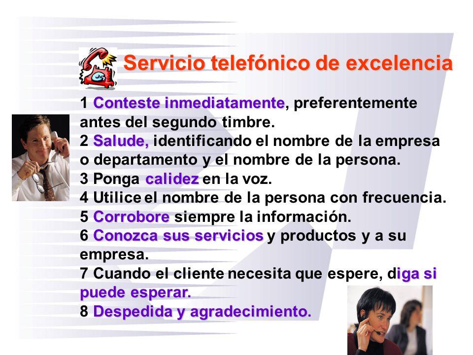 Servicio telefónico de excelencia