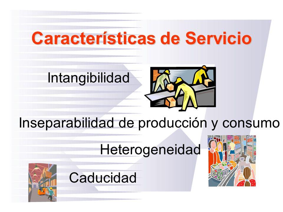 Características de Servicio