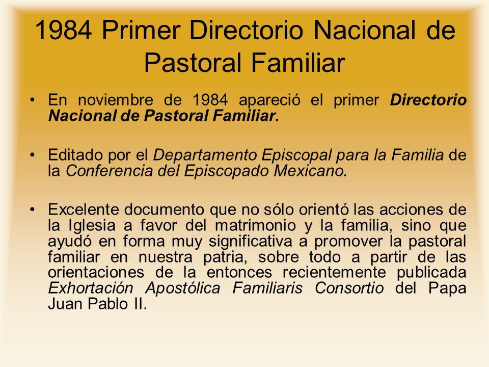 1984 Primer Directorio Nacional de Pastoral Familiar