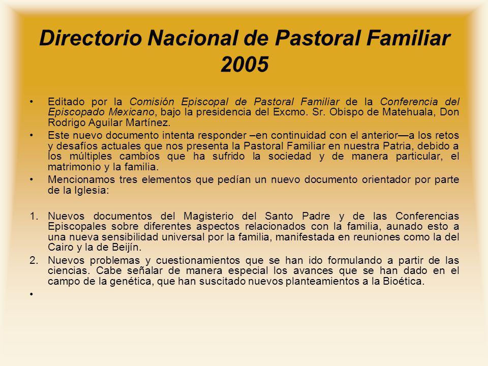 Directorio Nacional de Pastoral Familiar 2005