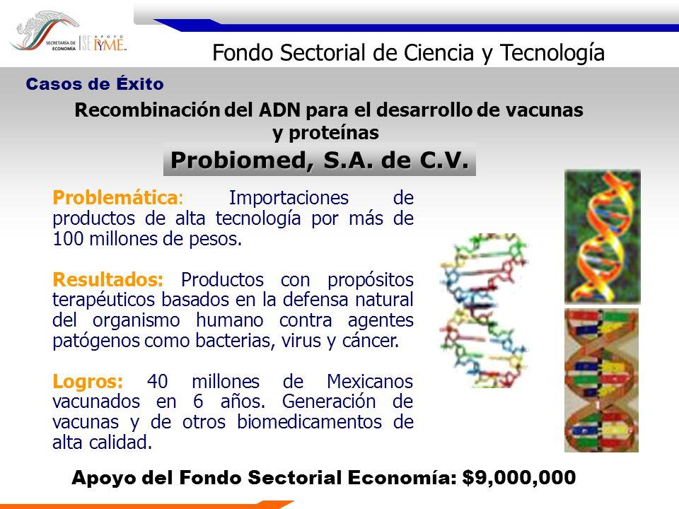Recombinación del ADN para el desarrollo de vacunas y proteínas