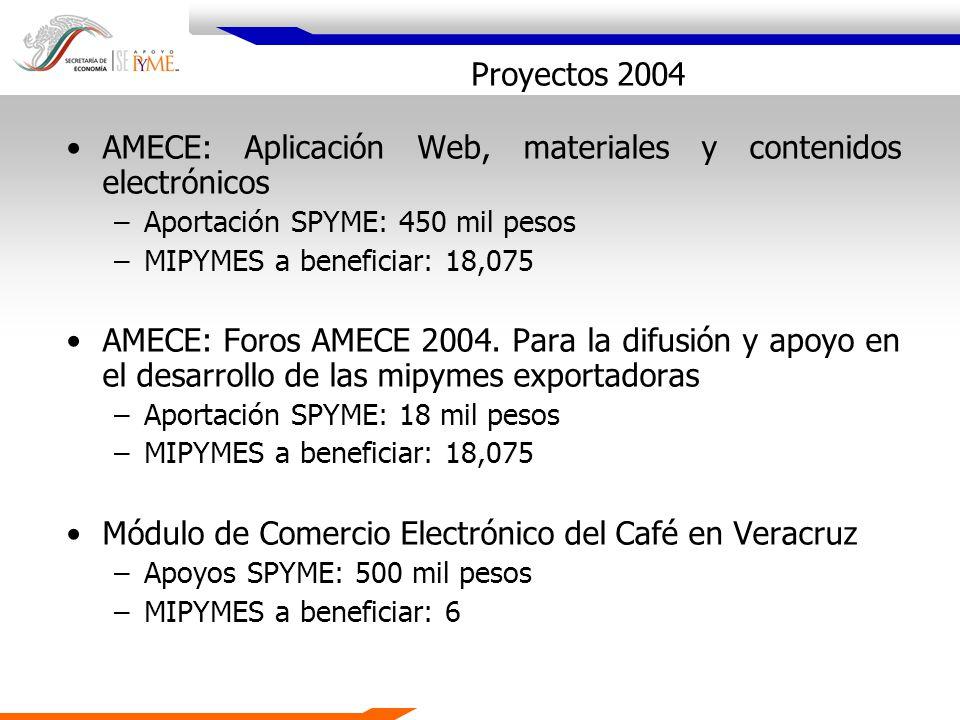 AMECE: Aplicación Web, materiales y contenidos electrónicos