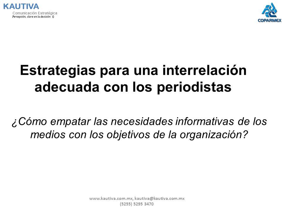 Estrategias para una interrelación adecuada con los periodistas