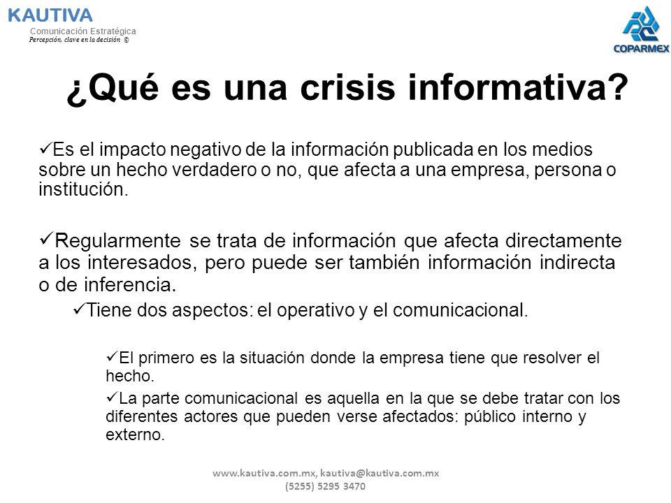 ¿Qué es una crisis informativa
