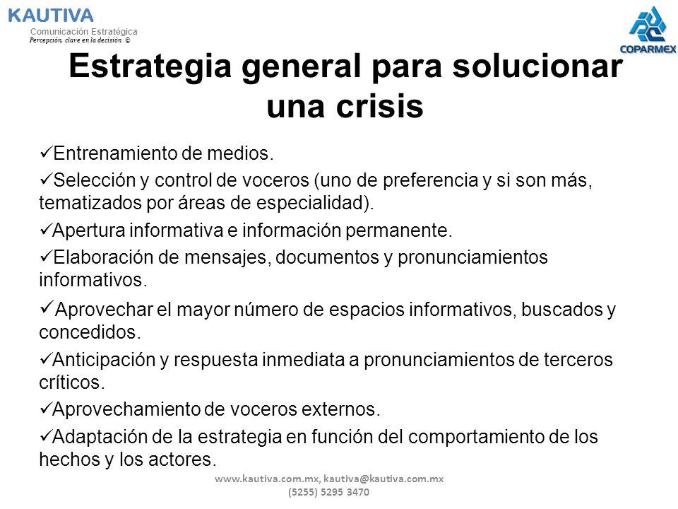 Estrategia general para solucionar una crisis