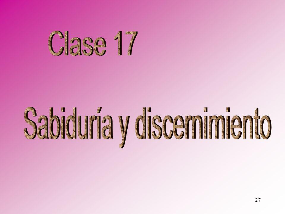 Sabiduría y discernimiento