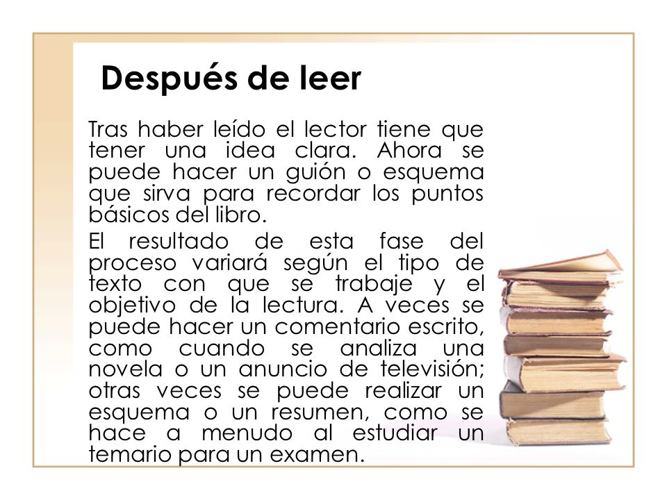 Después de leer