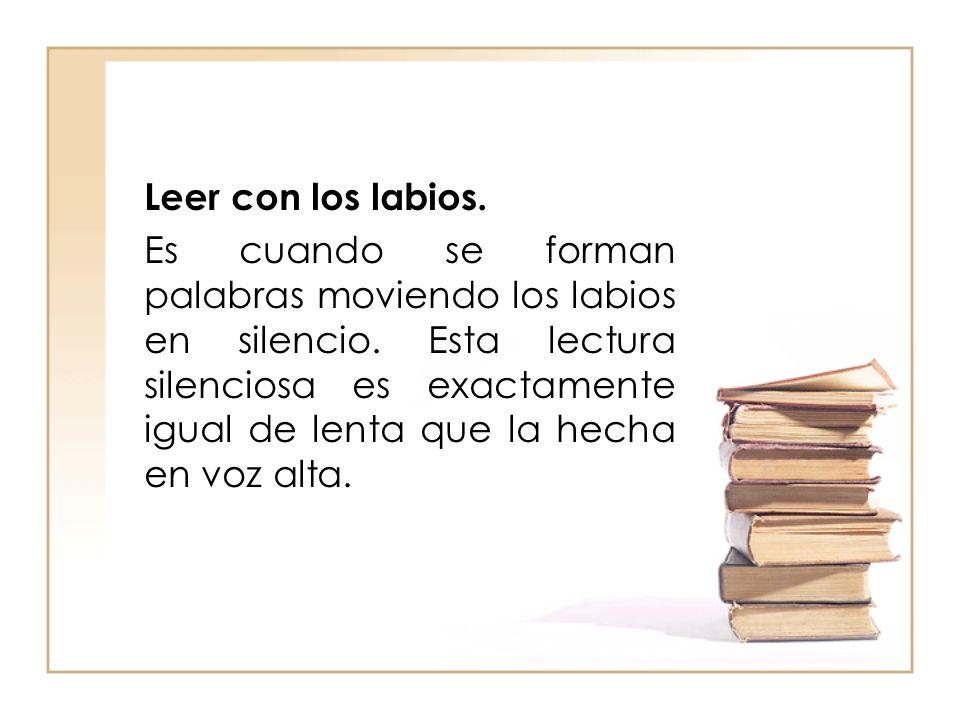 Leer con los labios.