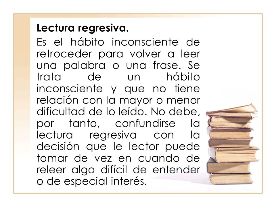 Lectura regresiva.