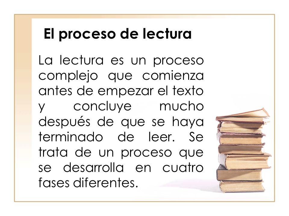 El proceso de lectura