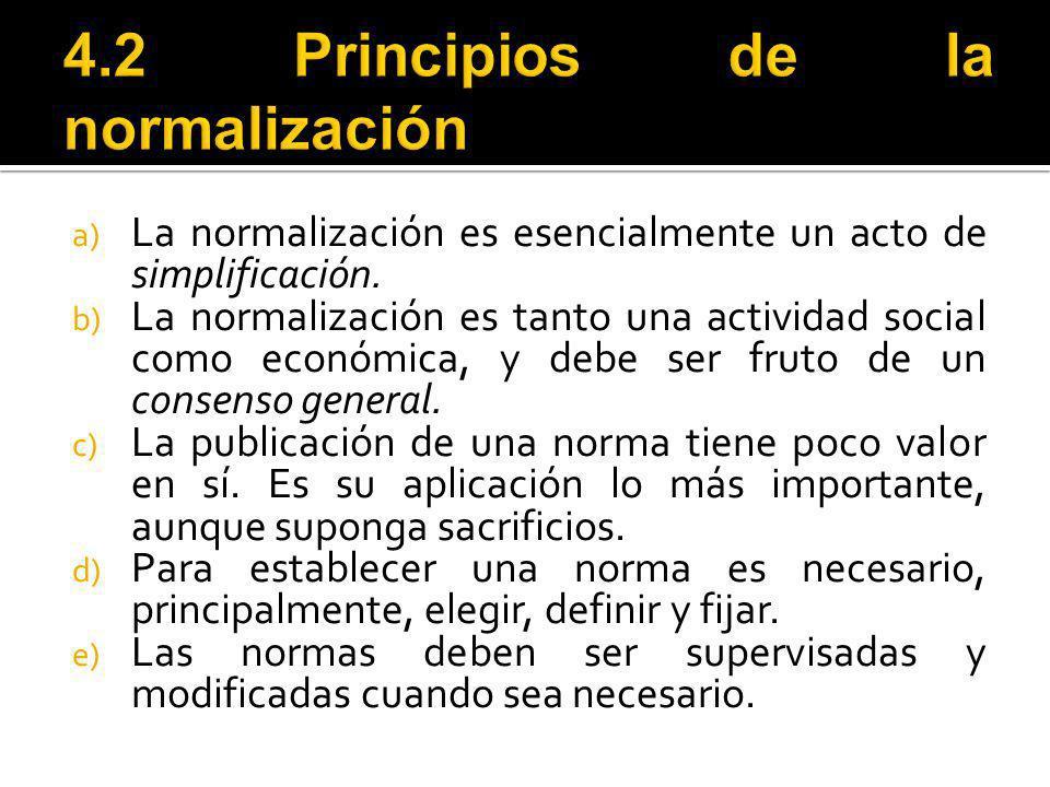 4.2 Principios de la normalización