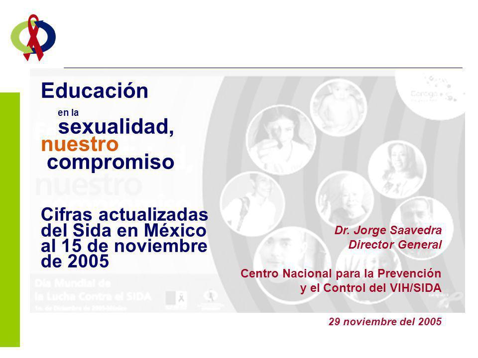 Educación en la sexualidad, nuestro compromiso Cifras actualizadas del Sida en México al 15 de noviembre de 2005