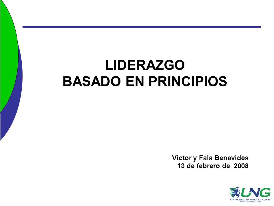 LIDERAZGO BASADO EN PRINCIPIOS