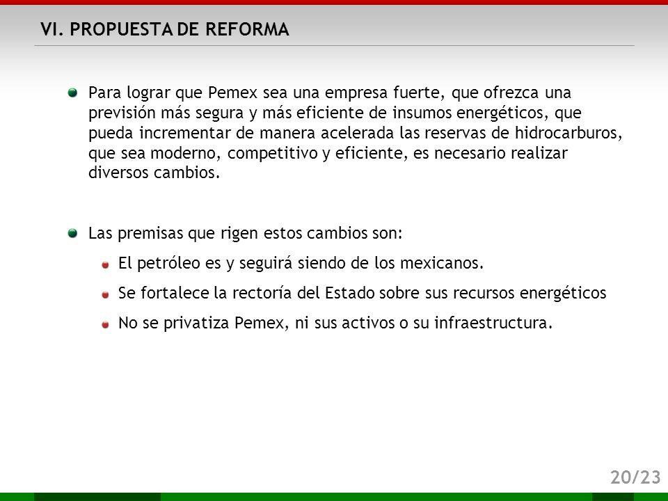 VI. PROPUESTA DE REFORMA