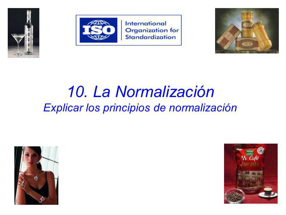 10. La Normalización Explicar los principios de normalización