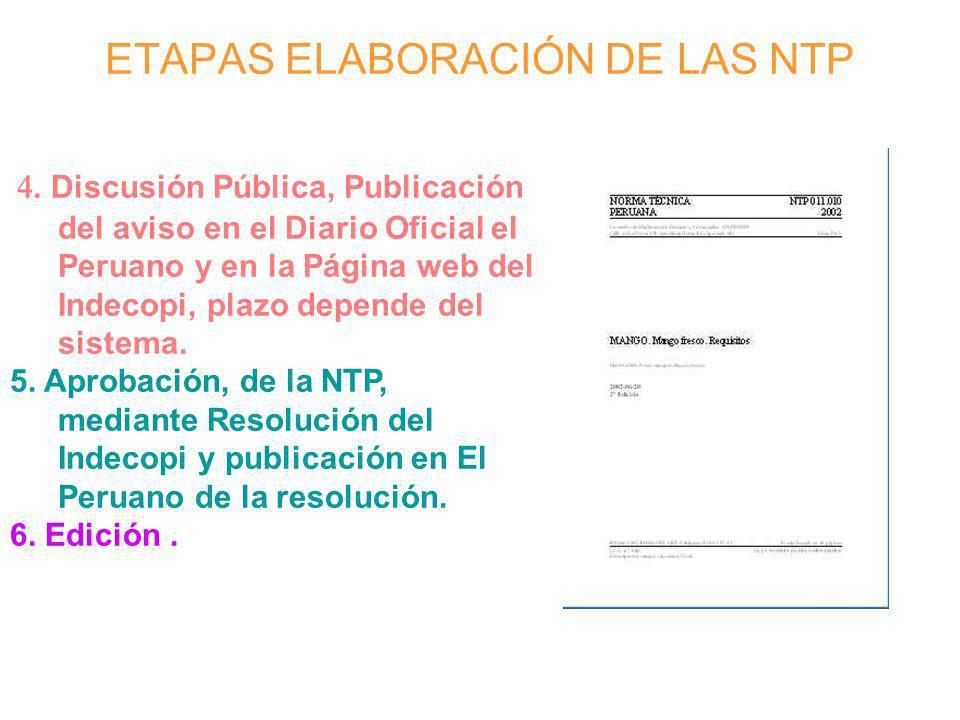 ETAPAS ELABORACIÓN DE LAS NTP