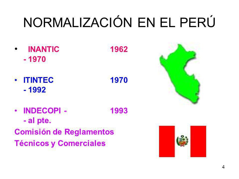 NORMALIZACIÓN EN EL PERÚ