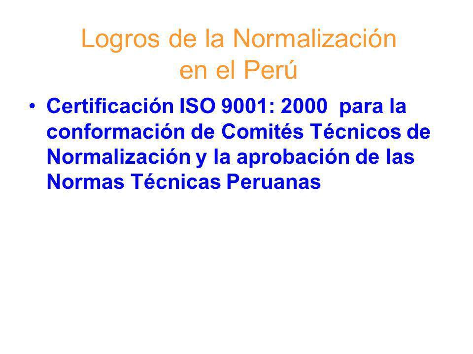 Logros de la Normalización en el Perú