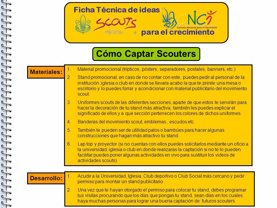 Cómo Captar Scouters Ficha Técnica de ideas para el crecimiento