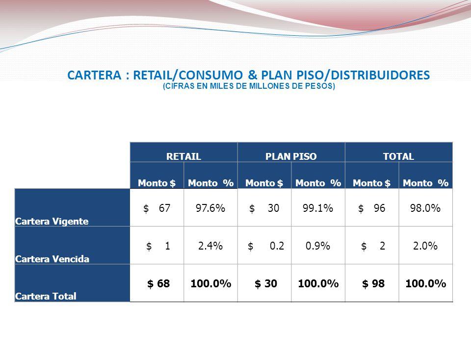 CARTERA : RETAIL/CONSUMO & PLAN PISO/DISTRIBUIDORES
