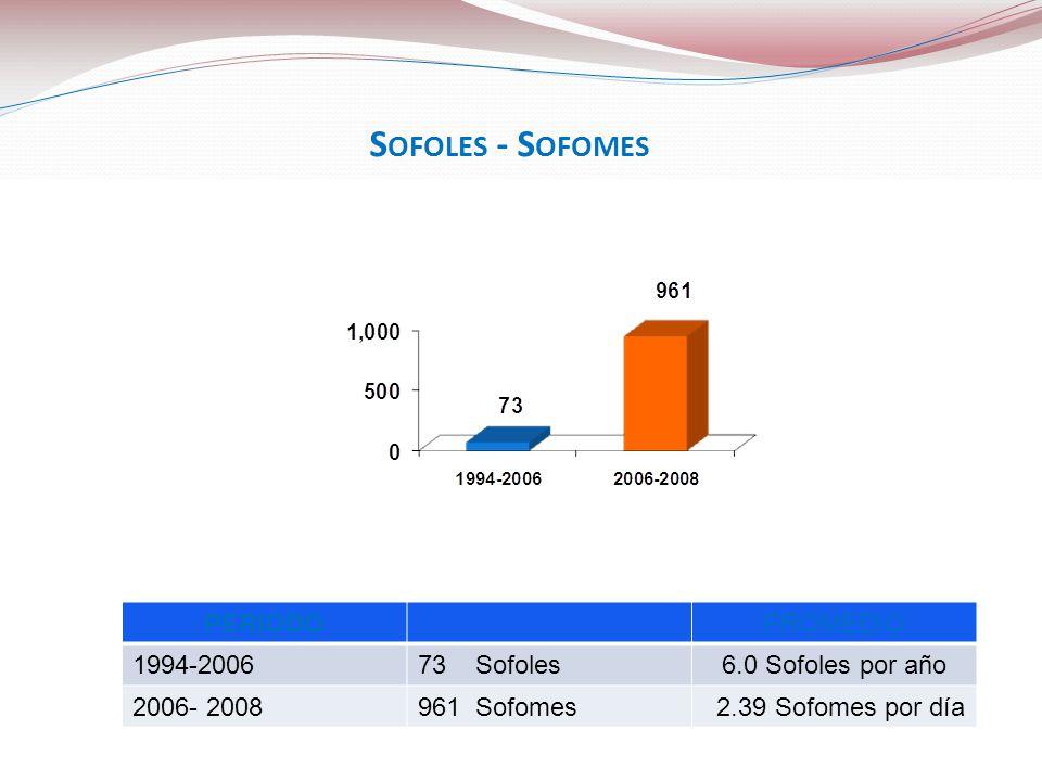 Sofoles - Sofomes PERIODO PROMEDIO 1994-2006 73 Sofoles