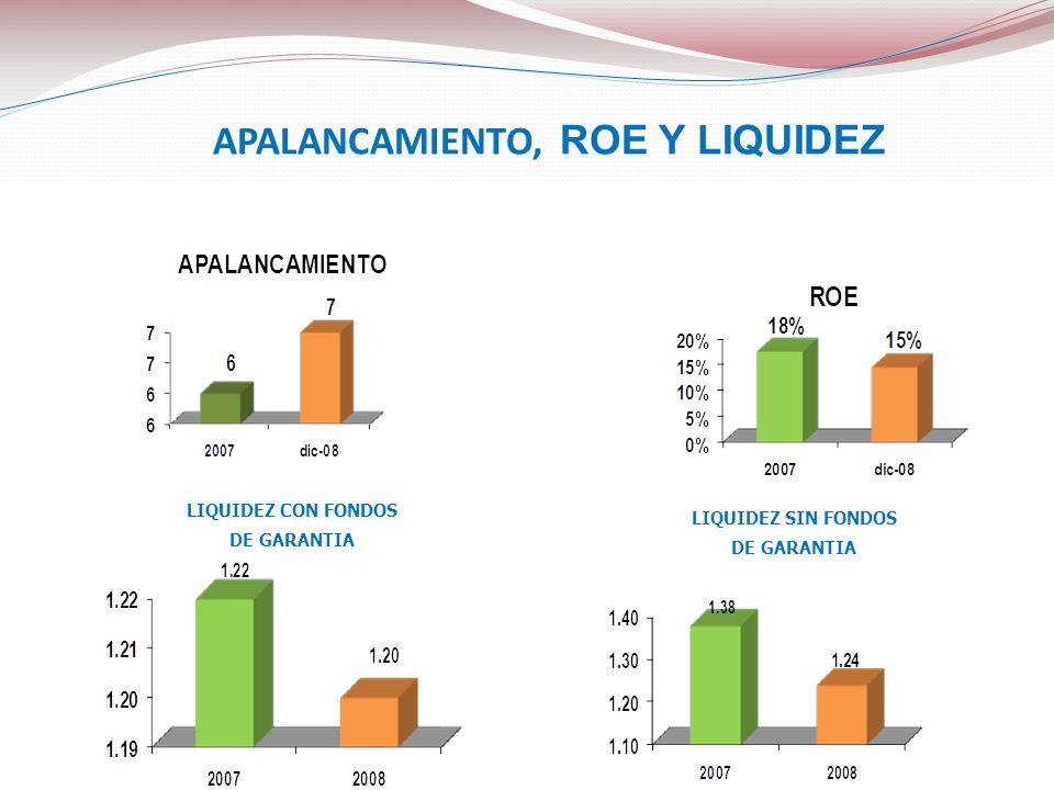 APALANCAMIENTO, ROE Y LIQUIDEZ