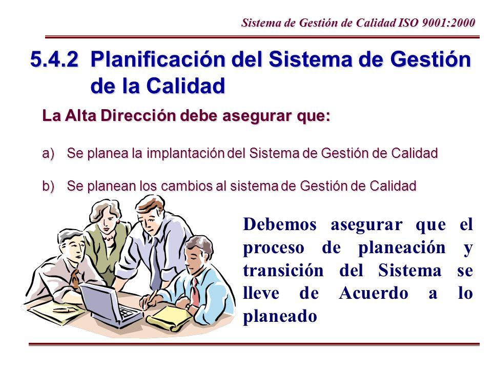 5.4.2 Planificación del Sistema de Gestión de la Calidad