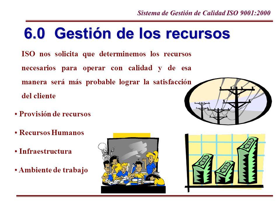 6.0 Gestión de los recursos