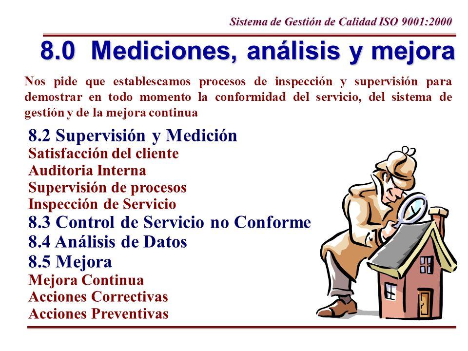 8.0 Mediciones, análisis y mejora