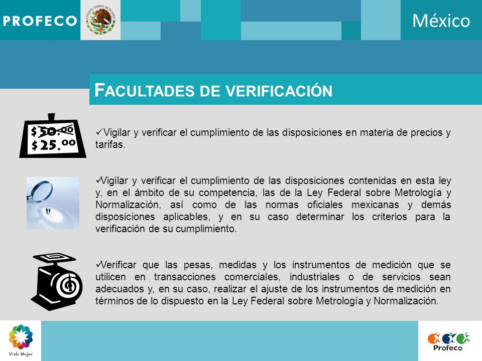 México Facultades de verificación