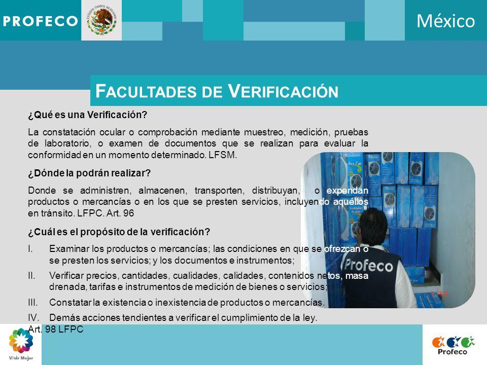 México Facultades de Verificación ¿Qué es una Verificación