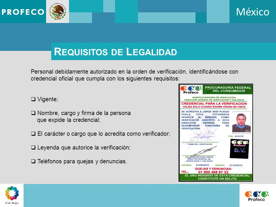México Requisitos de Legalidad