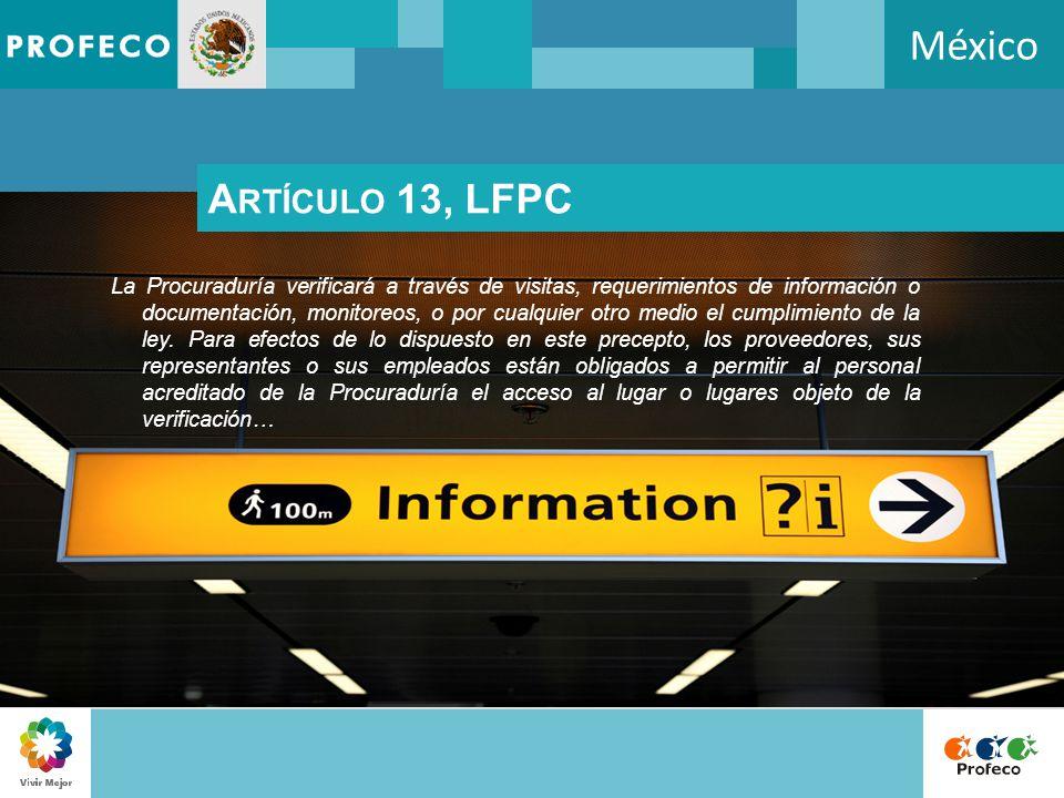 México Artículo 13, LFPC.
