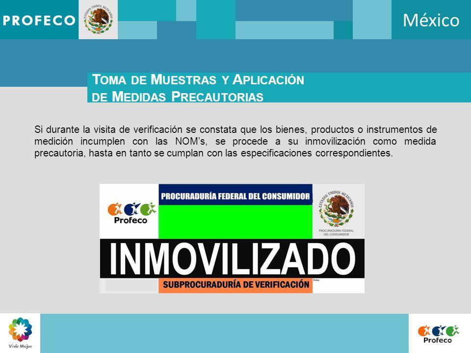 México Toma de Muestras y Aplicación de Medidas Precautorias